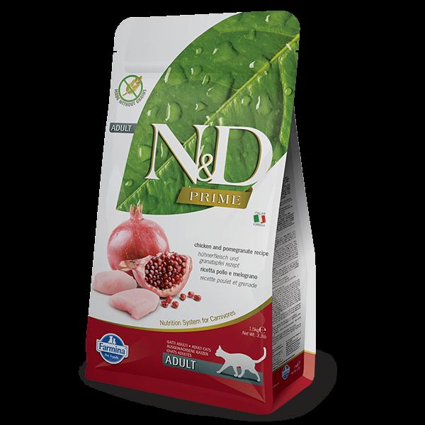 N&D Grain Free Prime Chicken & Pomegranate Adult FELINE-1,5kg
