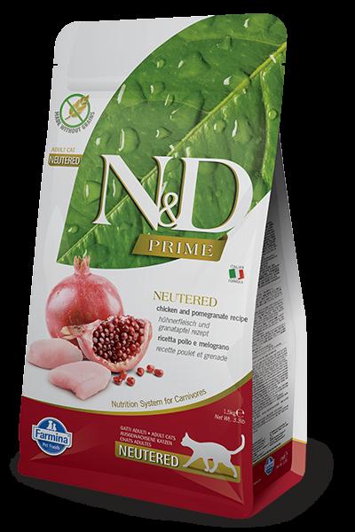 N&D Grain Free Prime Chicken & Pomegranate Neutered FELINE-1,5kg