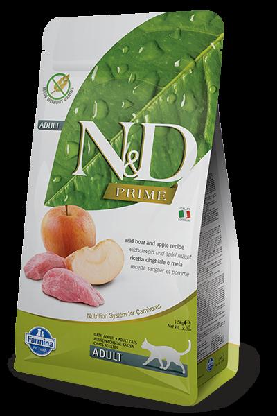 N&D Grain Free Prime Boar & Apple Adult FELINE-1,5kg