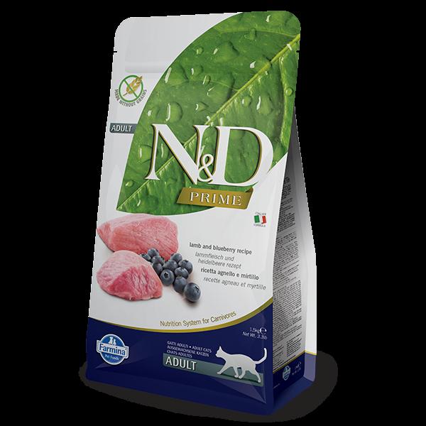 N&D Grain Free Prime Lamb & Blueberry FELINE -5Kg