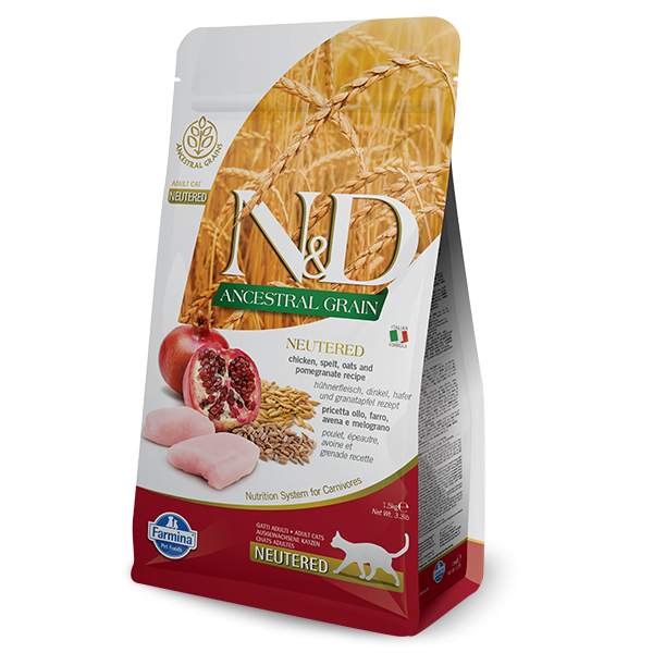 N&D LOW ANCESTRAL CHIKEN AND POMEGRANATE NEUTERED-10Kg