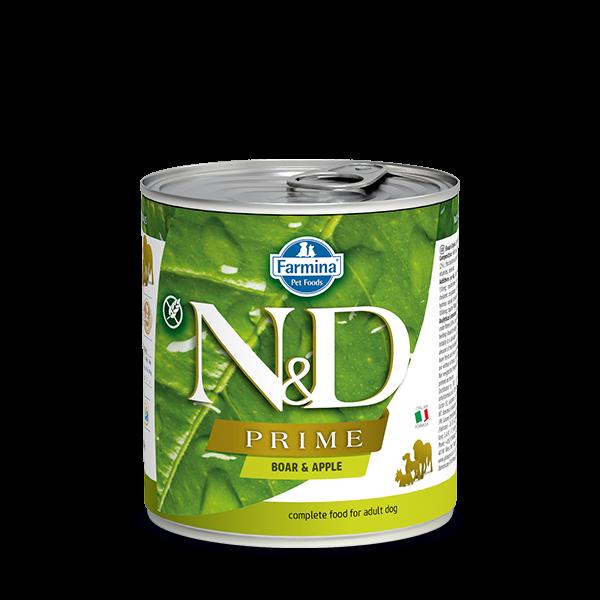 N&D Grain free boar and apple wet food adult 285gr