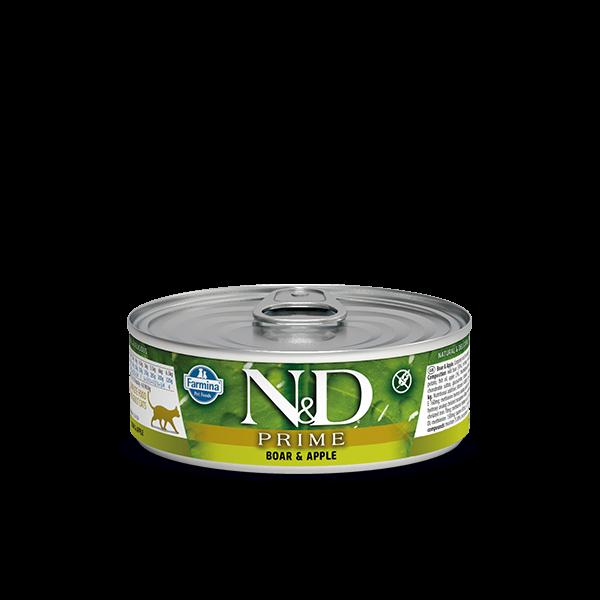 N&D Grain Free Prime BOAR AND APPLE WET FOOD 80g