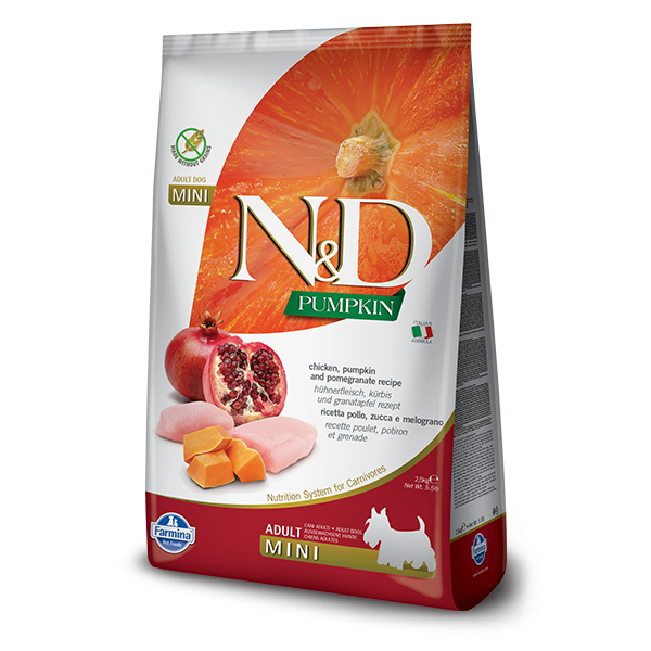 N&D Pumpkin Chicken & Pomegranate Adult Dog Mini Canine 7kg