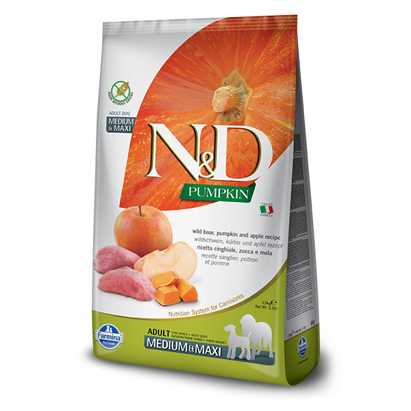 N&D Pumpkin Boar & Apple Adult Dog Medium Maxi 2,5Kg