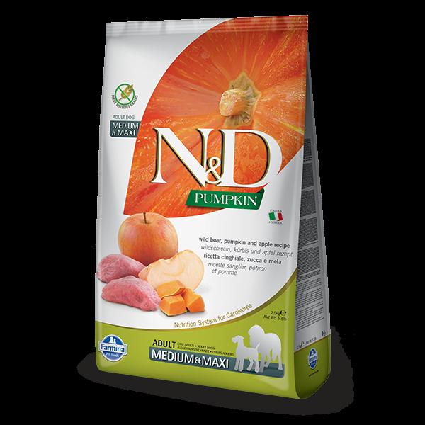 N&D Pumpkin Boar & Apple Adult Dog Medium Maxi 12Kg