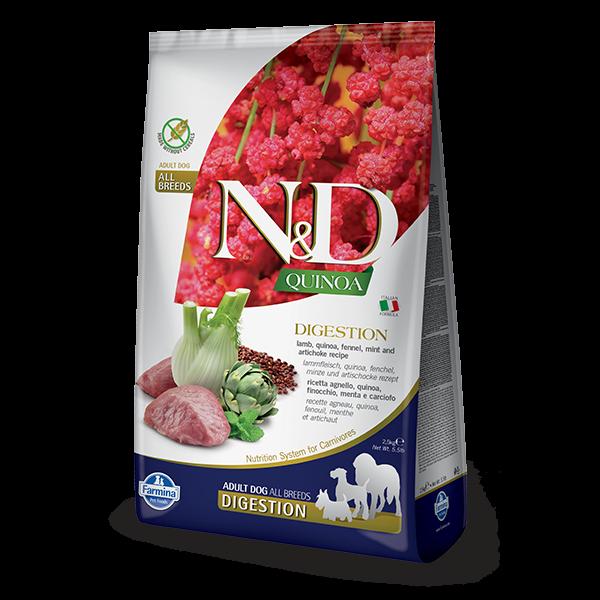 N&D Quinoa Digestion Lamb Dog 2,5Kg
