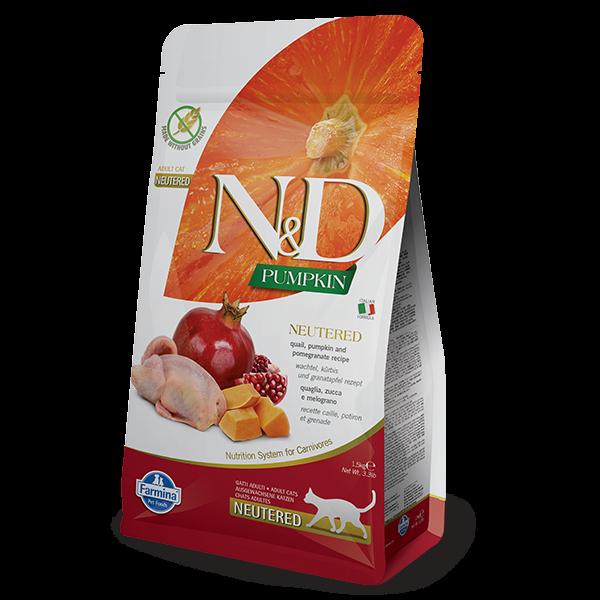 N&D PUMPKIN, QUAIL AND POMEGRANATE NEUTERED-1,5kg