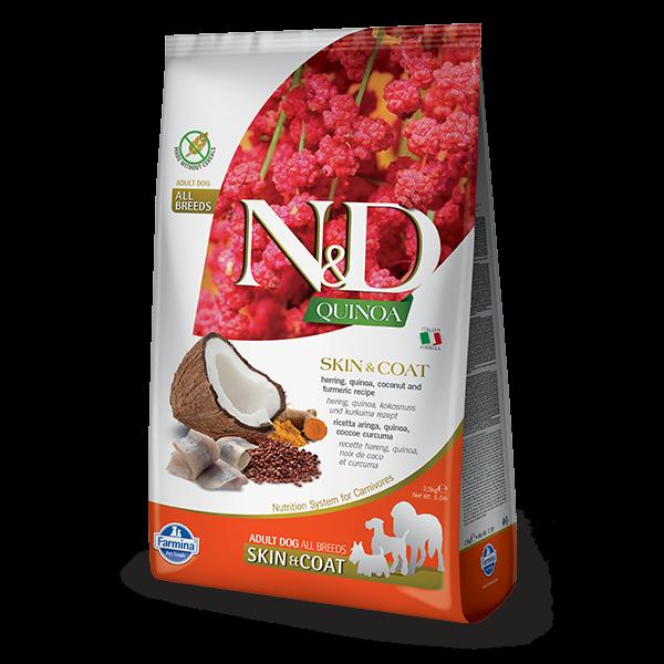 N&D Quinoa Skin & Coat Herring Dog 2,5Kg
