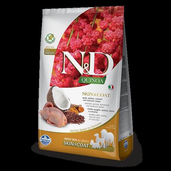 N&D Quinoa Skin & Coat Quail Dog 2,5Kg