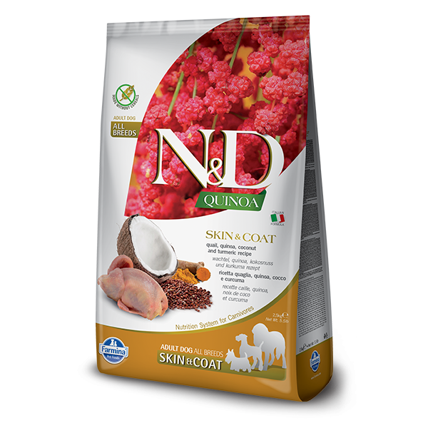 N&D Quinoa Skin & Coat Quail Dog 7kg