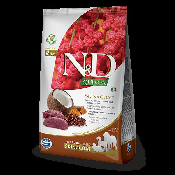 N&D Skin & Coat Venison Canine 2.5Kg - 7Kg