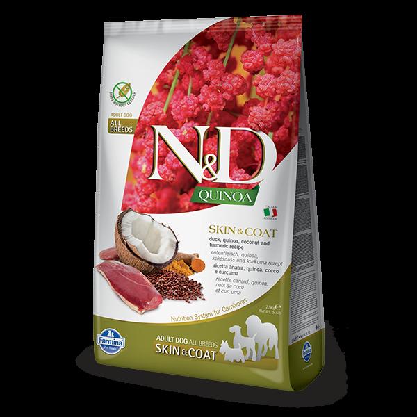 N&D Quinoa Skin & Coat Duck Dog 2,5Kg