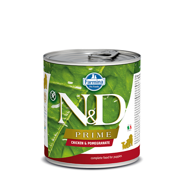 N&D Grain free chiken & Pomegranate puppy wet food 285gr