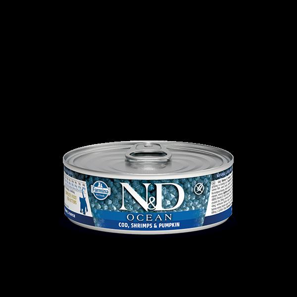 N&D Cod, Shrimp & Pumpkin Kitten wet food 80g