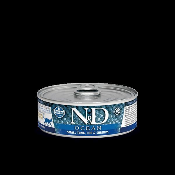 N&D Ocean Tuna, Cod & Shrimp Adult wet food 80g