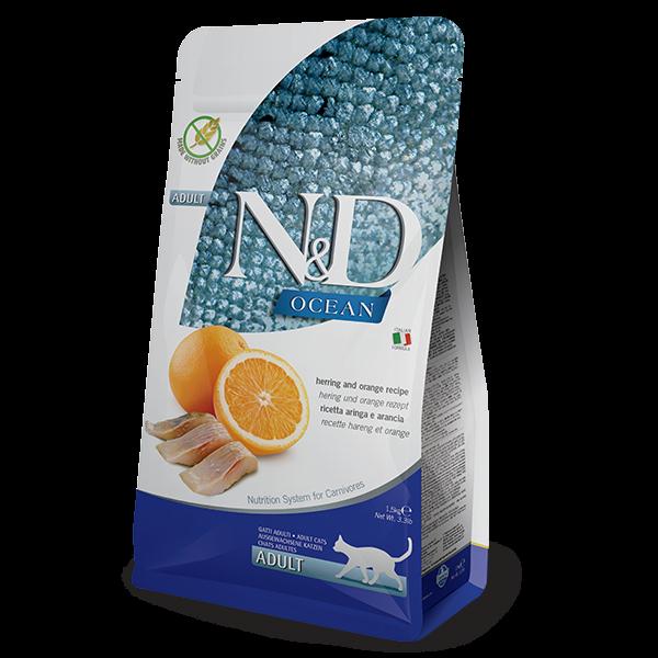 N&D Grain Free Ocean Fish & Orange Adult FELINE -10Kg