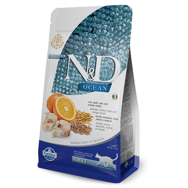 N&D Low Ancestral Grain Fish & Orange Adult Feline 10Kg