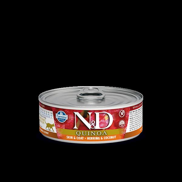 N&D Quinoa Skin&coat herring wet food 80gr