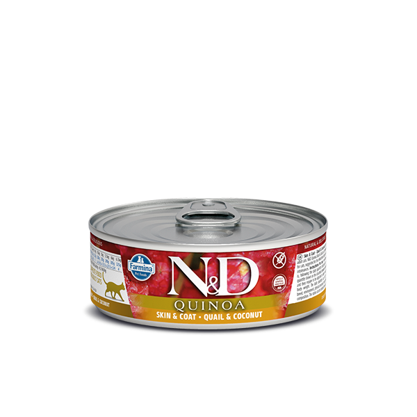 N&D Quinoa Skin&coat quail wet food 80gr
