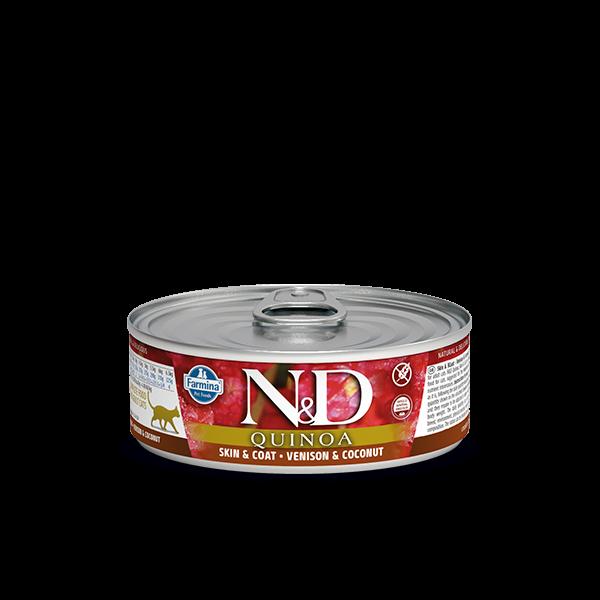 N&D Quinoa Venison wet food 80gr