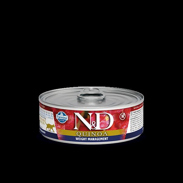 N&D Quinoa Weight management wet food 80gr