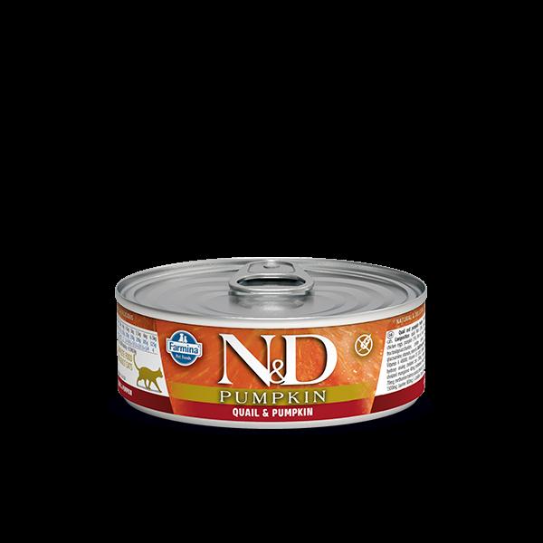 N&D QUAIL & PUMPKIN WET FOOD 80g