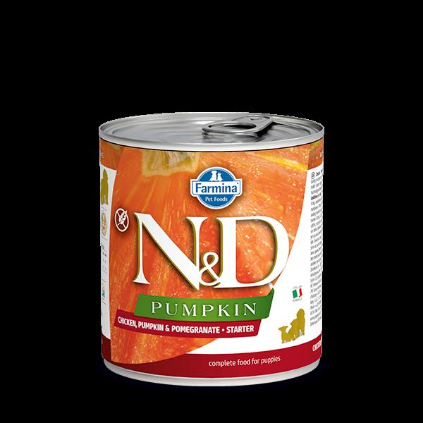 N&D CHICKEN, PUMPKIN & POMEGRANATE - STARTER WET FOOD 285g
