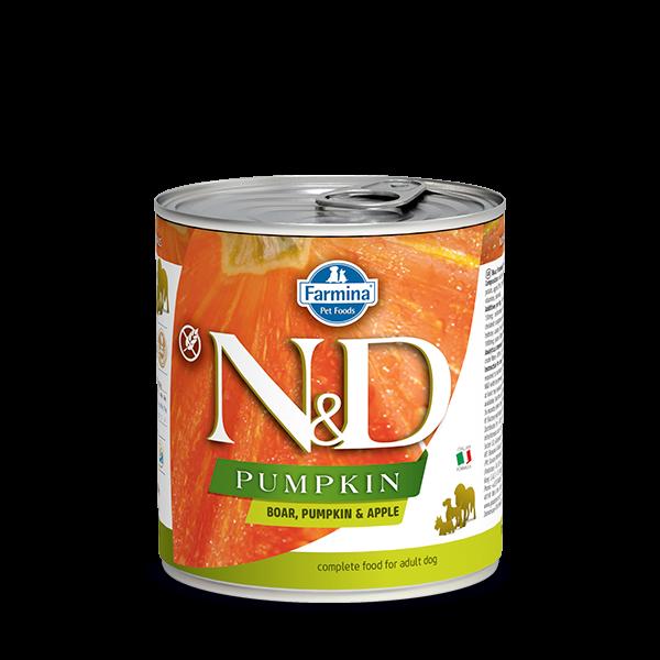 N&D BOAR, PUMPKIN & APPLE ADULT WET FOOD 285g