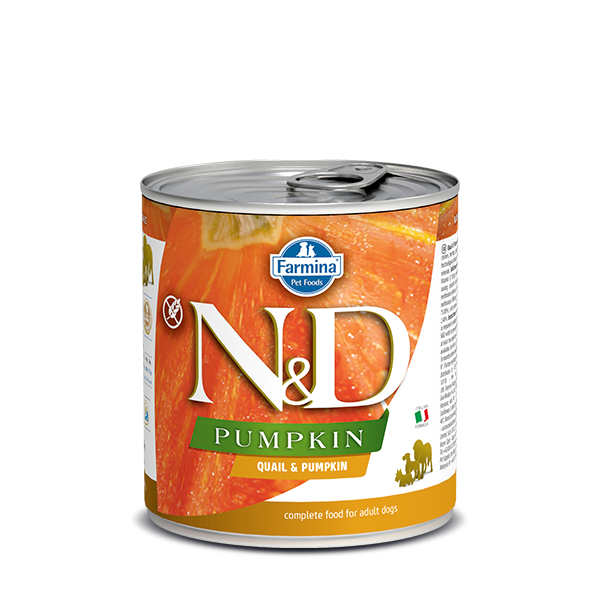 N&D QUAIL & PUMPKIN ADULT WET FOOD 285g