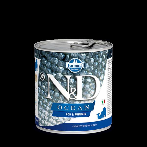 N&D OCEAN - COD & PUMPKIN PUPPY DOG WET FOOD 285g