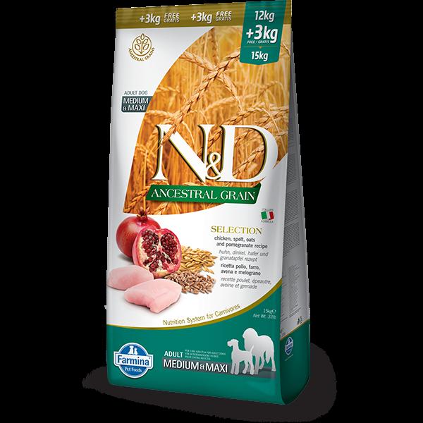 N&D Low Ancestral Selection adult MEDIUM & MAXI 15 kg