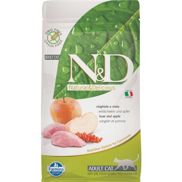 N&D Grain Free Boar & Apple Adult FELINE 1,5Kg - 5Kg