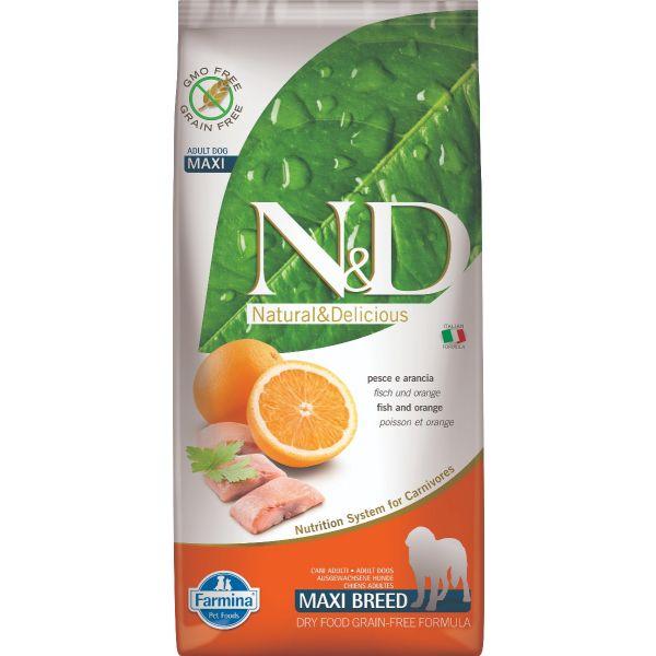 N&D Grain Free Fish & Orange Adult Maxi 12Kg
