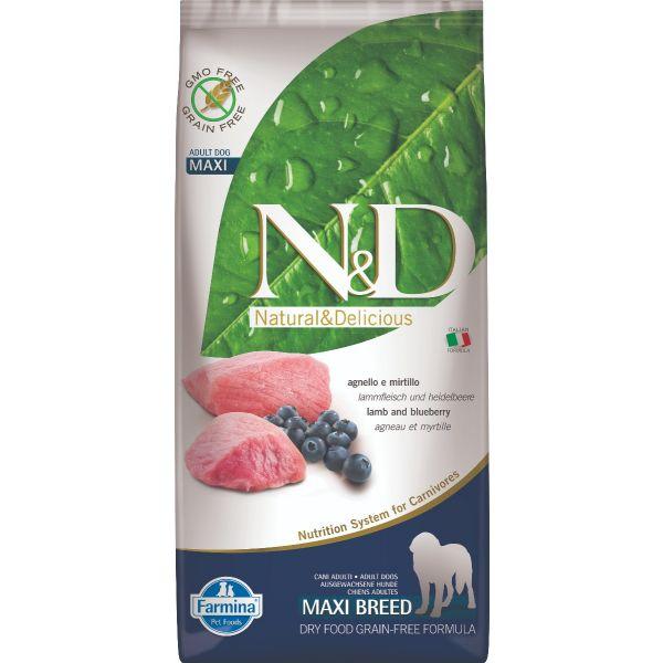 N&D Grain Free Lamb & Blueberry Adult Maxi 12Kg