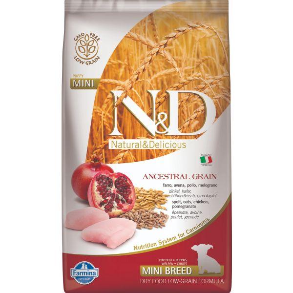 N&D Low Ancestral Grain Chicken & Pomegranate Puppy Mini Dog 2,5Kg