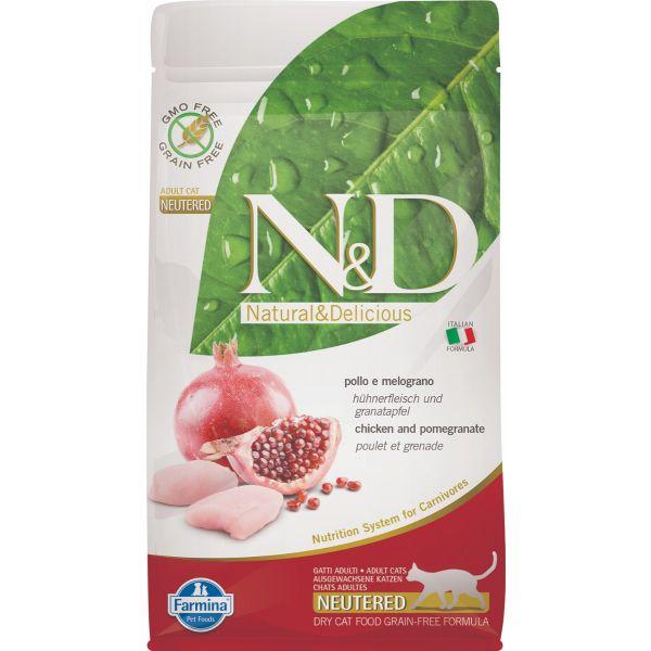 N&D Grain Free Chicken & Pomegranate Neutered FELINE 1,5Kg 10Kg