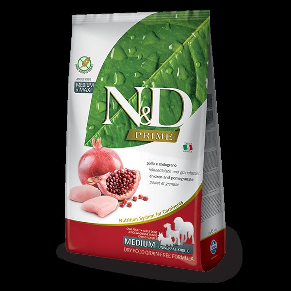 N&D Grain Free Prime Chicken & Pomegranate Adult Medium/Maxi Dog-12Kg