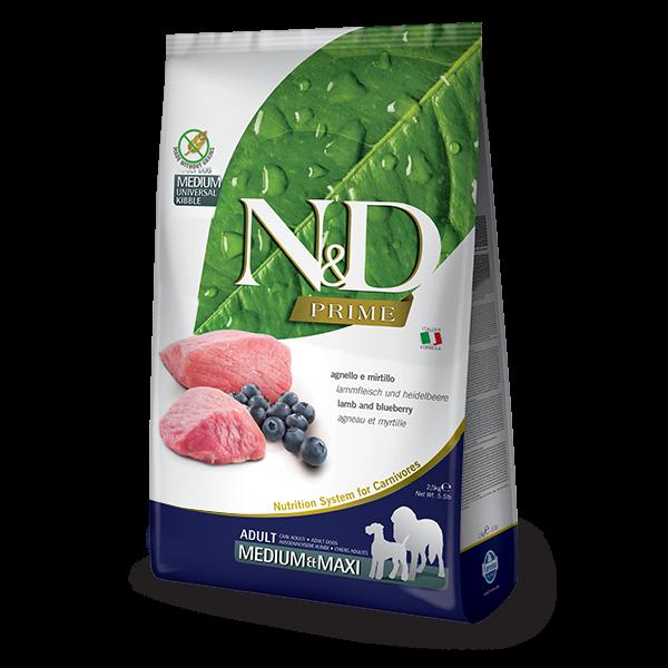N&D Grain Free Prime Lamb & Blueberry Adult Medium / Maxi Dog-12Kg