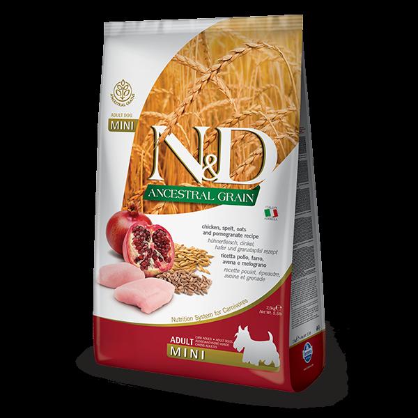 N&D Low Ancestral Grain Chicken & Pomegranate Adult Mini Dog 800gr