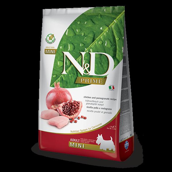 N&D Grain Free Prime Chicken & Pomegranate Adult Mini Dog-2,5Kg