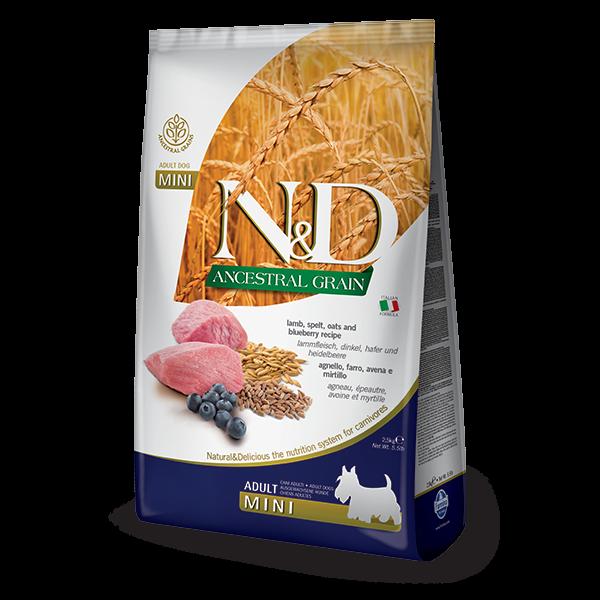 N&D Low Ancestral Grain Lamb & Blueberry Adult Mini Dog- 800gr