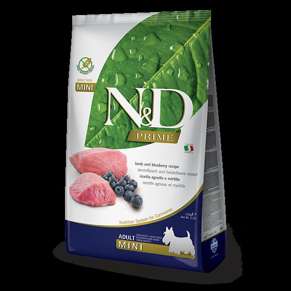N&D Grain Free Prime Lamb & Blueberry Adult Mini Dog 2,5Kg