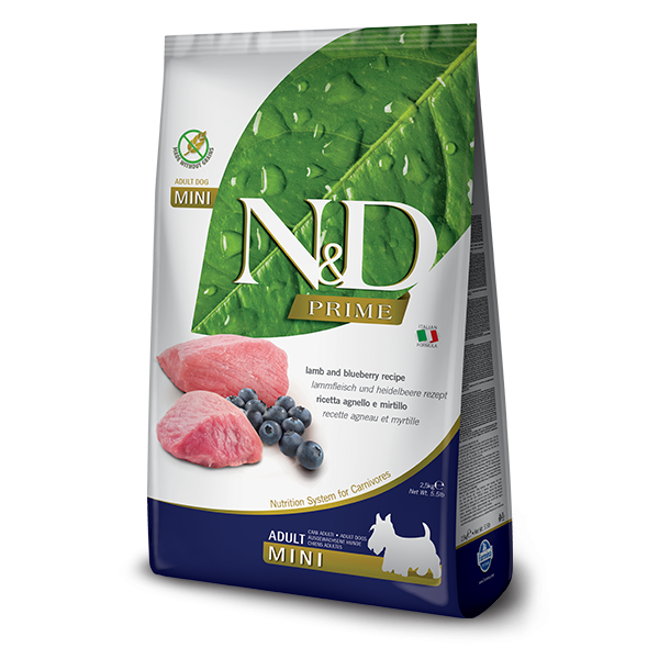 N&D Grain Free Prime Lamb & Blueberry Adult Mini Dog 0,8gr