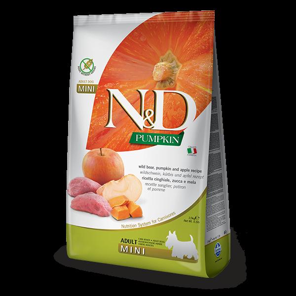 N&D Pumpkin Boar and Aplle Adult mini Dog 7kg