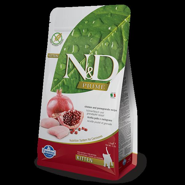 N&D Grain Free Prime Chicken & Pomegranate Kitten FELINE-1,5kg