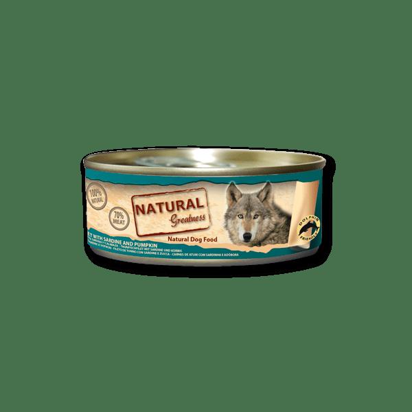 Natural & Greatness Bife de Atum e Sardinhas 156g