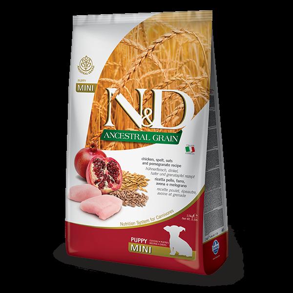 N&D Low Ancestral Grain Chicken & Pomegranate Puppy Mini Dog 800gr