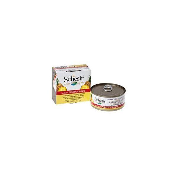 Schesir Cão Adult Filezinhos de Frango com Abacaxi 150gr