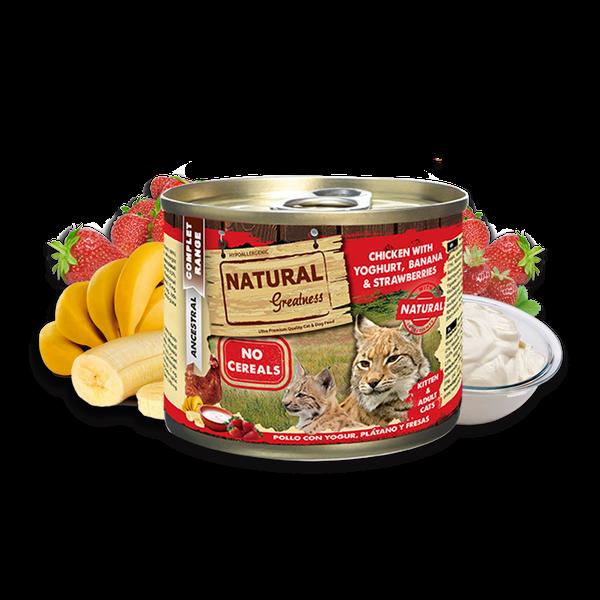 Patê Frango com Iogurte, Bananas e Morangos Kitten/Adult 200g